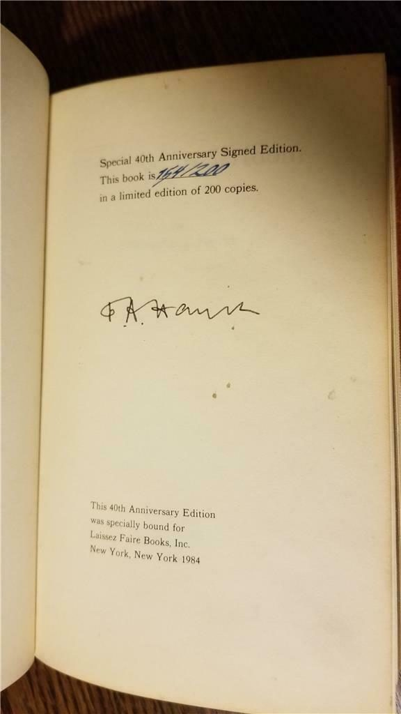 Road to Serfdom F.A. Hayek Signed Limited Edition (3)