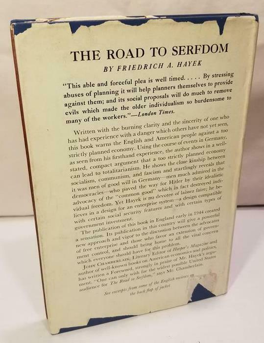 The Road to Serfdom First American Edition by F.A. Hayek